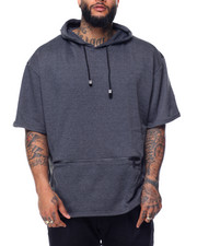 Basic Essentials - Fishtail Bottom S/S Pullover Hoodie (B&T)