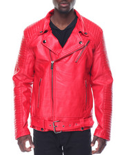 Men - Vegan Leather Moto Jacket