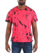 Men - S/S Tie Dye Side Zip Crew