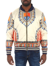 Men - Oakbay Dashiki Satin Bomber Jacket