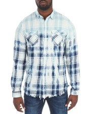 Shirts - WASHER PLAID BUTTON DOWN