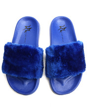Women - SMOOTH FAUX FUR SLIDES