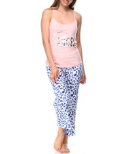 Women - Angel/Animal Print Capri PJ Set