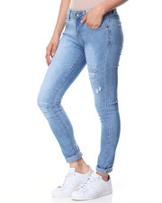 Women - Destructed 5 Pocket Skinny Jean