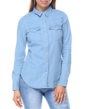 Women - Tailored Classic Westen Denim Shirt