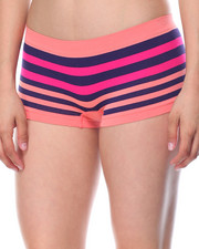 Women - Love Cut Outs/Floral Stripe Seamless 3Pk Shorts