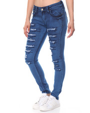 Bottoms - Ripped 5 Pocket Skinny Jean