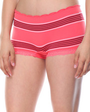 Women - Stripe/Side Cut Outs/ Space Dye Seamless 3Pk Shorts