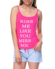 Women - Kiss Me Like U Miss Me Short PJ set