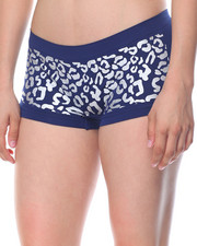 Women - Animal Foil Print/Cut Out Sides  Seamless 3Pk Shorts