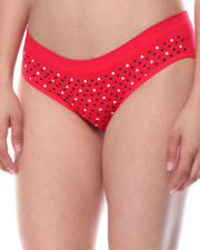 Panties - Heart Print Seamless 3Pk Bikinis