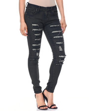 Women - Ripped 5 Pocket Skinny Jean