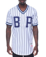 Black Pyramid - B P Pinstripe S/S Baseball - Style Jersey
