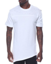 Men - S/S Distressed Asymmetrical Tee