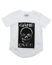 Akademiks - ELONGATED GAME OVER FOIL TEE (4-7)
