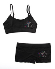 DRJ Underwear Shop - Teen Rhinestone/Star Seamless Bra Short/Set