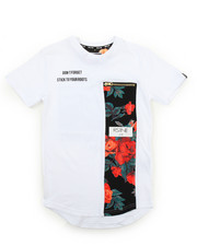 Boys - Flower Pleated Tee (8-20)