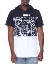 Men - Splatter Colorblock S/S Hoodie