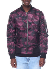 Men - Camo Bomber Jacket