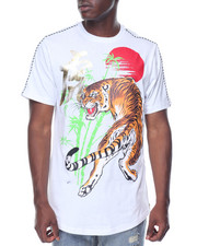 Men - Tiger DBL Zip Scallop Tee