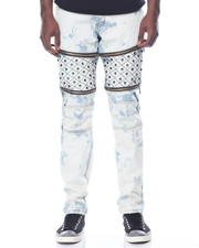 Men - Quilted - Leg Washed Denim Jeans