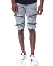 Men - Zipper Stretch Twill Shorts