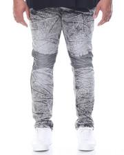 Men - Acid Wash Moto Jean (B&T)