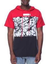 Buyers Picks - Splatter Colorblock S/S Hoodie