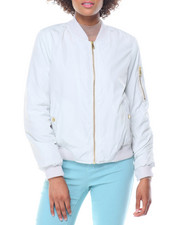 Women - Welt Pockets Flight Jacket