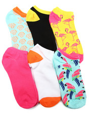 Women - Tropical Prints 6Pk Low Cut Socks