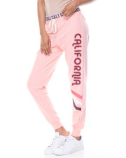 Graphix Gallery - Cali Cali French Terry Jogger W/Printed Inner Waist Band