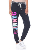 NYC NYC French Terry Jogger W/Printed Inner Waist Band