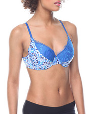 DRJ Lingerie Shoppe - Floral Lace Trim Push-up Bra