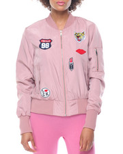 Women - Patches Flap Pocket Flight Jacket