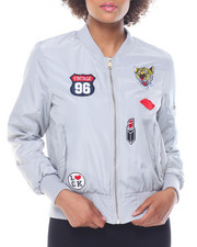 Fashion Lab - Patches Flap Pocket Flight Jacket