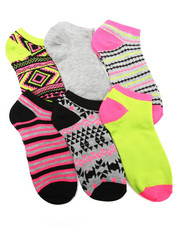 Women - Aztec Mix Prints 6Pk Low Cut Socks