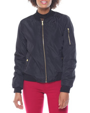 Fashion Lab - Welt Pockets Flight Jacket