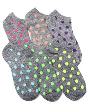 Women - Marled Neon Geo Print 6Pk Low Cut Socks
