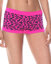 DRJ Lingerie Shoppe - Mixed Animal/Solid Seamless 3Pk Shorts