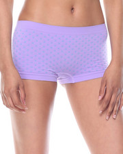 DRJ Lingerie Shoppe - Dot Textured/Stripe/Solid Seamless 3Pk Shorts