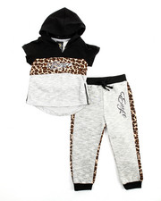 Girls - 2Pc Animal Print Jogger Set (2T-4T)