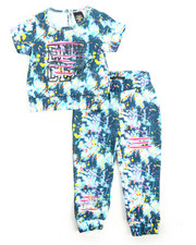 Girls - 2Pc Splatter Jogger Set (2T-4T)