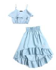 Sets - 2Pc Chambray Maxi Skirt Set (4-6X)
