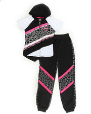 Girls - 2Pc Animal Print Jogger Set (7-16)
