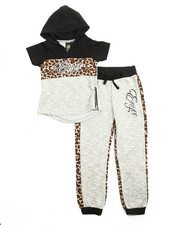 Sets - 2Pc Animal Print Jogger Set (4-6X)