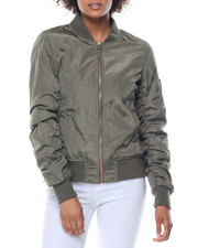 Steve Madden - Side Zip Rose Gold Hardware Bomber Jacket