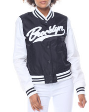 "Women - Varsity ""Brooklyn"" Bomber Jacket"
