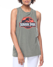 Graphix Gallery - Jurassic Park Lunar Wash Muscle Tank