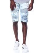 Cloud - Wash Moto - Style Denim Shorts