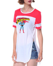 Graphix Gallery - Superman Drapey Tunic Football Tee